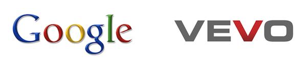 google vevo logos header